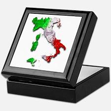 Italy Map Keepsake Box