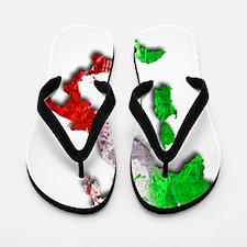 Italy Map Flip Flops