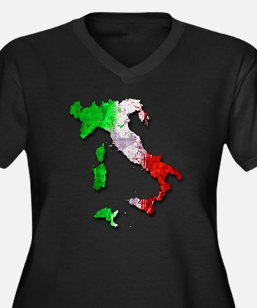 Italy Map Plus Size T-Shirt