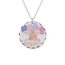 babys first valentine girl Necklace