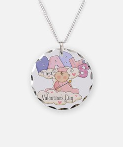 babys first valentine girl Necklace