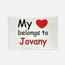 My heart belongs to jovany Rectangle Magnet