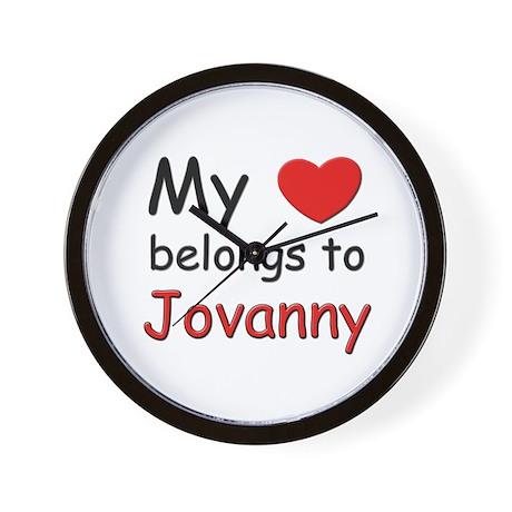 My heart belongs to jovanny Wall Clock