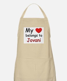 My heart belongs to jovani BBQ Apron