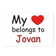 My heart belongs to jovan Postcards (Package of 8)