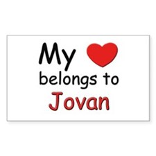 My heart belongs to jovan Rectangle Decal