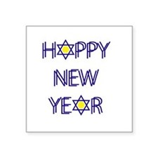 "Happy New Year, Rosh Hashan Square Sticker 3"" x 3"""