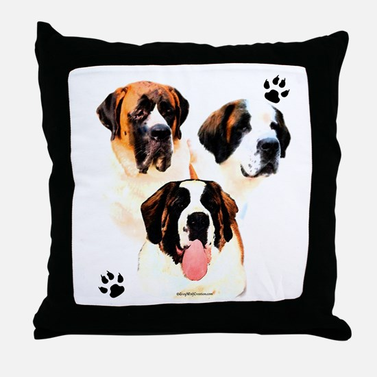 Saint Trio Throw Pillow