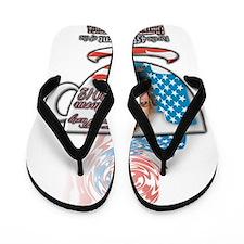 Sarah Palin Tea Party 2012 cup Flip Flops