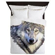 3-GRAY WOLF Queen Duvet