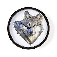 3-GRAY WOLF Wall Clock