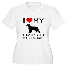 I Love My Irish Water Spaniel T-Shirt