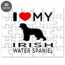 I Love My Irish Water Spaniel Puzzle