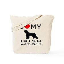 I Love My Irish Water Spaniel Tote Bag