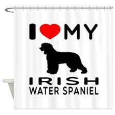 I Love My Irish Water Spaniel Shower Curtain