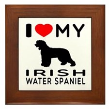 I Love My Irish Water Spaniel Framed Tile