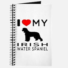I Love My Irish Water Spaniel Journal