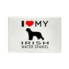 I Love My Irish Water Spaniel Rectangle Magnet