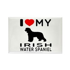 I Love My Irish Water Spaniel Rectangle Magnet (10