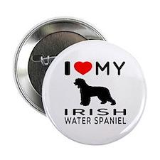 "I Love My Irish Water Spaniel 2.25"" Button"