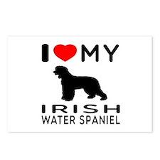 I Love My Irish Water Spaniel Postcards (Package o