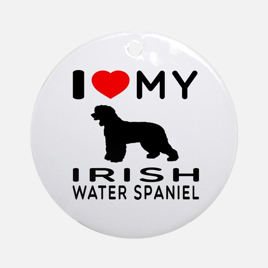 I Love My Irish Water Spaniel Ornament (Round)