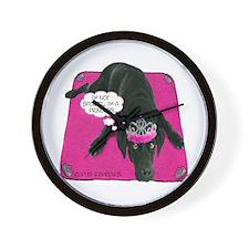 Black Lab Princess Wall Clock