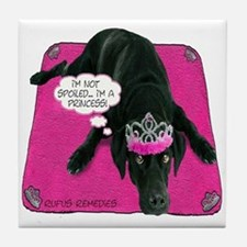 Black Lab Princess Tile Coaster