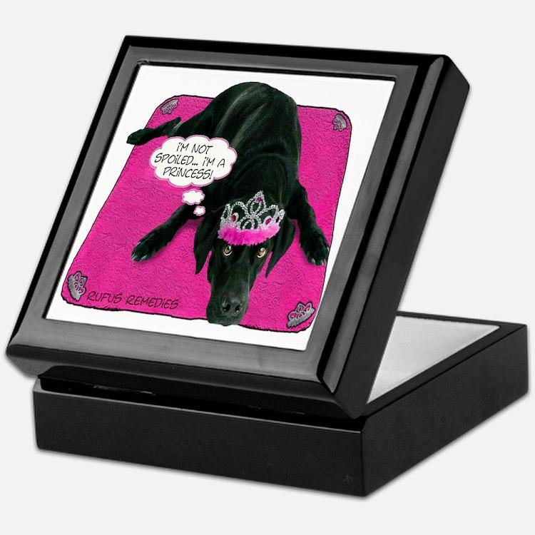 Black Lab Princess Keepsake Box