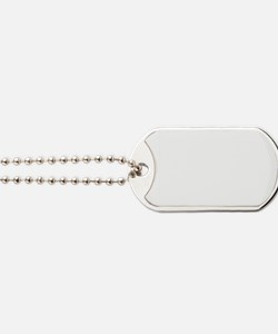 Manly-white Dog Tags