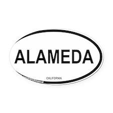 alameda Oval Car Magnet