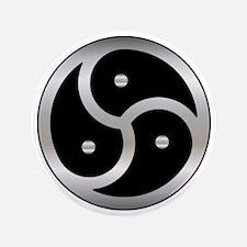 "BDSM symbol Femdom 3.5"" Button"