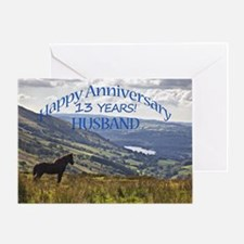 13th Anniversary for husband Greeting Cards