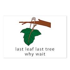 last leaf last tree Postcards (Package of 8)
