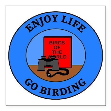 """birding4 Square Car Magnet 3"""" x 3"""""""