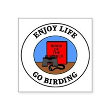 "birding1 Square Sticker 3"" x 3"""