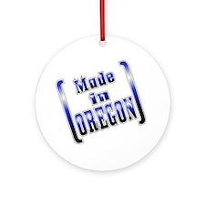 made_OREGON_T Round Ornament