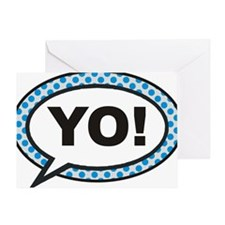 YO BUBBLE 3A Greeting Card