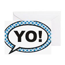 YO BUBBLE 3A Greeting Card
