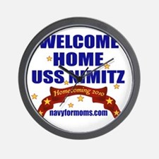 navy 4 moms welcome Wall Clock