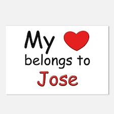 My heart belongs to jose Postcards (Package of 8)