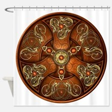 Norse Chieftain's Shield - Copper & Shower Curtain