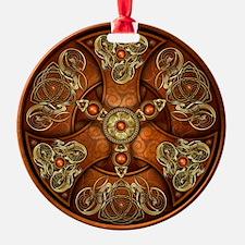 Norse Chieftain's Shield - Copper & Ornament