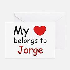 My heart belongs to jorge Greeting Cards (Package