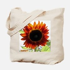 Red Sunflower T-Shirt Tote Bag