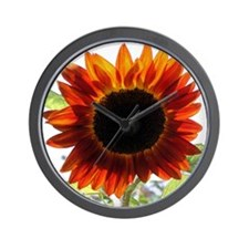 Red Sunflower T-Shirt Wall Clock