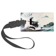 whale framed panel print Luggage Tag
