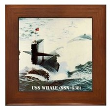 whale framed panel print Framed Tile