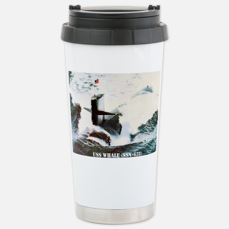 whale greeting card Stainless Steel Travel Mug