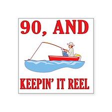 "reel90 Square Sticker 3"" x 3"""